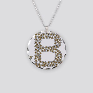 B (made of bees) Necklace Circle Charm