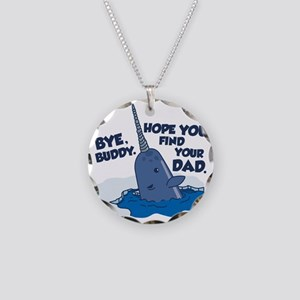 Elf Narwhal Necklace Circle Charm