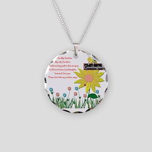 You Are My Sunshine Grandaug Necklace Circle Charm