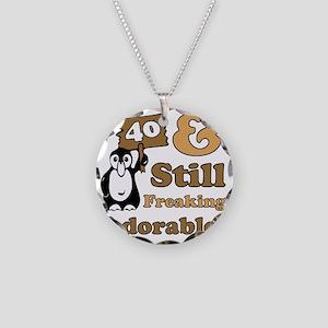Adorable40 Necklace Circle Charm