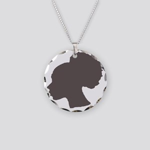 Super Puff Necklace Circle Charm