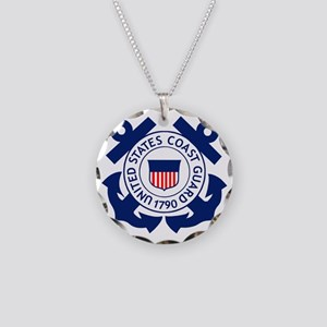 USCG-Logo-2-Blue.gi... Necklace Circle Charm
