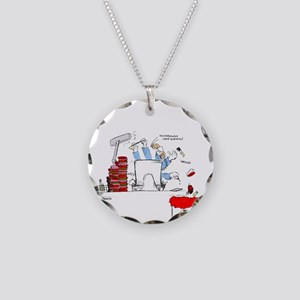 colorized micro Necklace Circle Charm