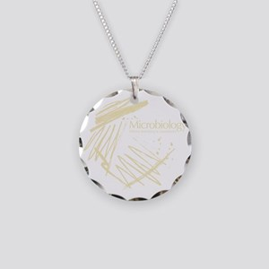 Microbiology Necklace Circle Charm