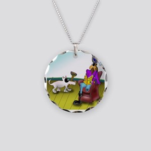 2709_disabled_cartoon Necklace Circle Charm