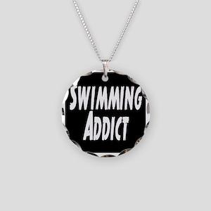 Swimming addict Necklace Circle Charm