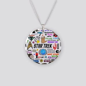 Trekkie Memories Necklace Circle Charm