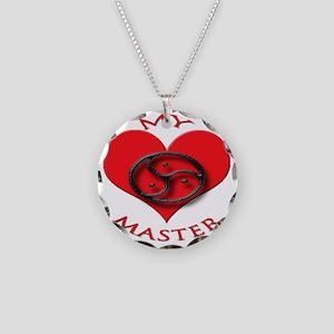 BDSM love my valentine maste Necklace Circle Charm