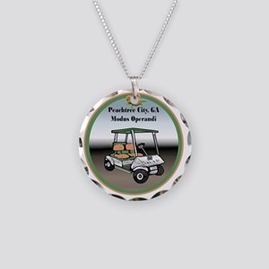 Peachtree City, Georgia Necklace Circle Charm