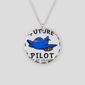 Pilot Grandpa Necklace Circle Charm