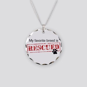Favorite Breed Is Rescued Necklace Circle Charm