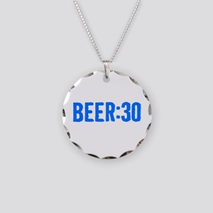 Beer:30 Necklace Circle Charm