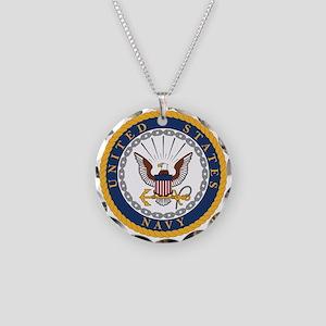 United States Navy Emblem Necklace Circle Charm