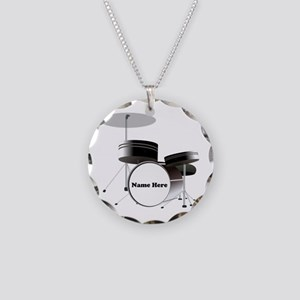 Drums Personalized Necklace Circle Charm
