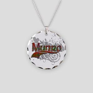 Munro Tartan Grunge Necklace Circle Charm