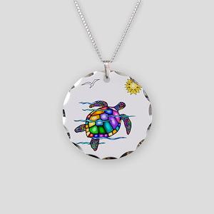Sea Turtle #1 Necklace Circle Charm