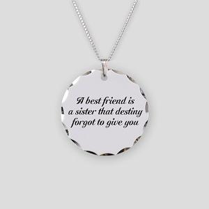 Best Friends Necklace Circle Charm