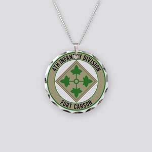 4th Infantry post Necklace Circle Charm