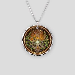 Sacred Celtic Trees - Vine Necklace Circle Charm