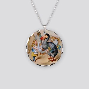 Alice and the Dodo Bird Necklace Circle Charm