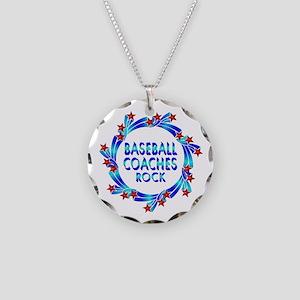 Baseball Coaches Rock Necklace Circle Charm