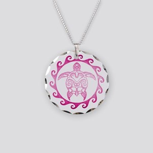 Pink Tribal Turtle Sun Necklace
