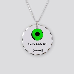 Personalized Lets Kick It! - GREEN Necklace Circle