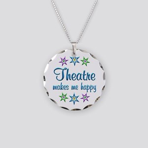 Theatre Happy Necklace Circle Charm