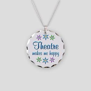 Theatre Happy Necklace Circle Charm