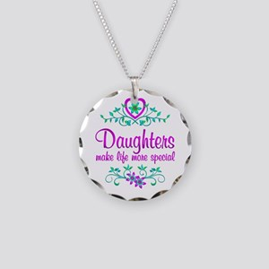 Special Daughter Necklace Circle Charm
