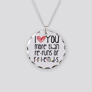 Love You More than Friends Necklace Circle Charm