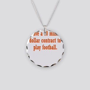 football-contract3 Necklace Circle Charm