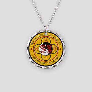wu shi jingshen Gung Fu Necklace Circle Charm
