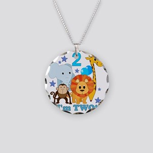 baby2JungleAnimals Necklace Circle Charm