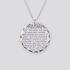 Beer Math Necklace Circle Charm