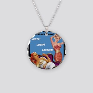 Lesbian Lust Gay Pulp Fiction Image Pin Up Necklac