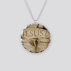 Names of Jesus Christ Necklace Circle Charm