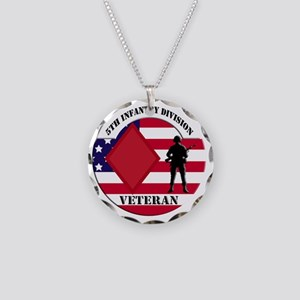 5th Infantry Division Necklace Circle Charm
