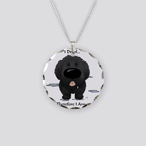 NewfieDroolLight Necklace Circle Charm