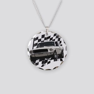 68stang Necklace Circle Charm