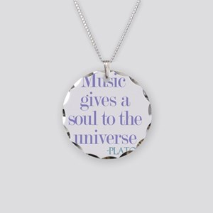 Music gives soul Necklace Circle Charm