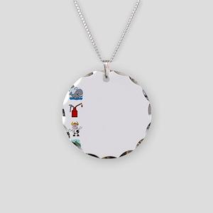Irish Accent Wht Necklace Circle Charm