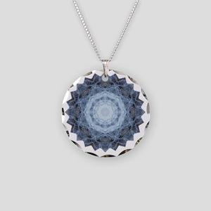 Blue Star Kachina Yoga Manda Necklace Circle Charm