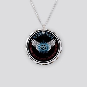 Supernatural  protection Sym Necklace Circle Charm