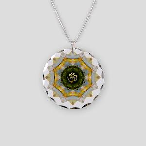 Gold Green Yoga Om Mandala S Necklace Circle Charm
