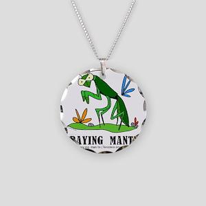 Cartoon Praying Mantis by Lo Necklace Circle Charm