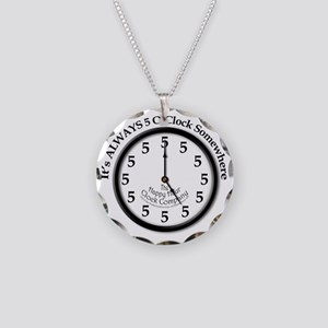 Always5oClodkArt Necklace Circle Charm