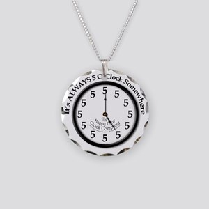 Always5oClock Necklace Circle Charm