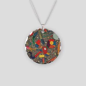 Colorful Ensemble Necklace Circle Charm