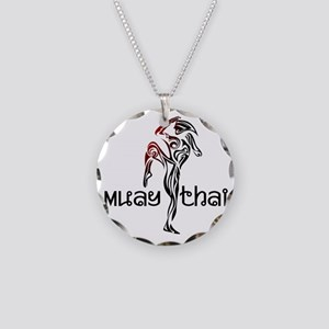 Muay Thai Necklace Circle Charm